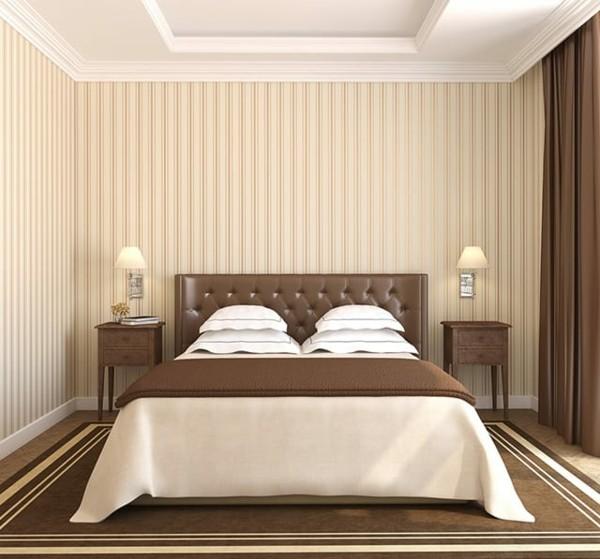 brauntöne schlafzimmer symmetrisch gestalten