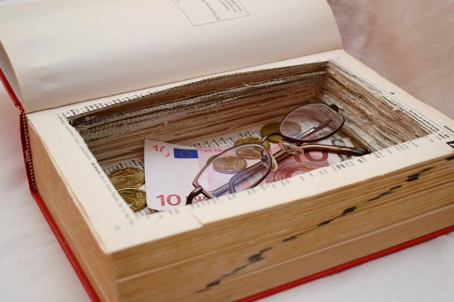 buch als geldversteck idee