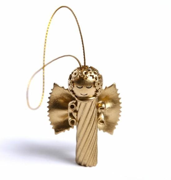 christbaumschmuck engel basteln mit nudeln