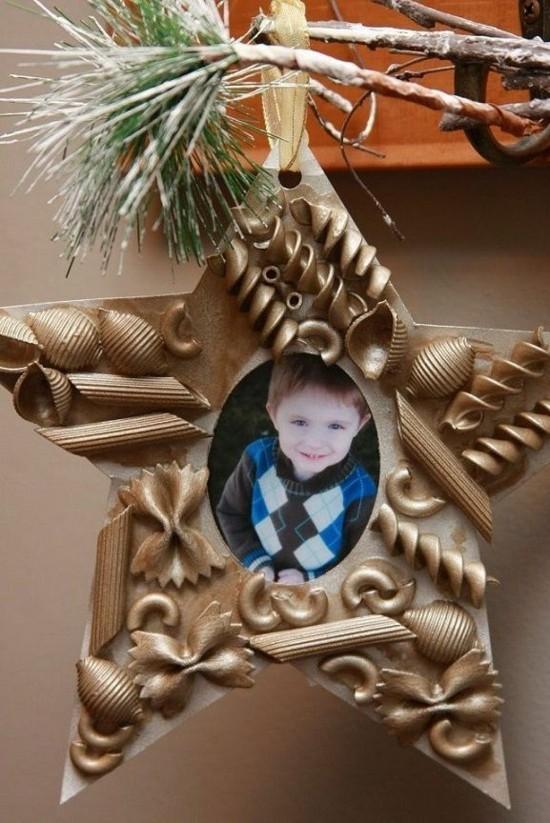 christbaumschmuck foto basteln mit nudeln