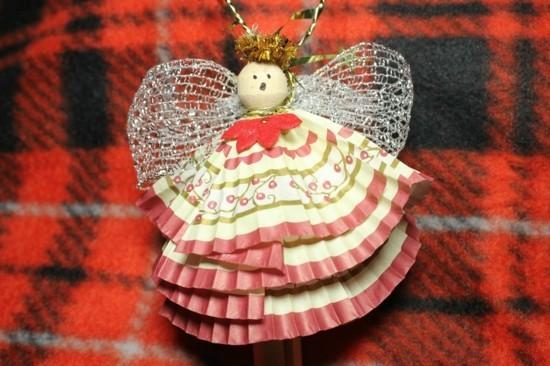 cupcake körbchen engel basteln