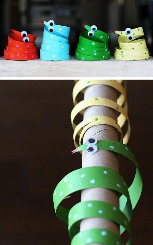 deko fürs regal Basteln mit Klopappierrollen