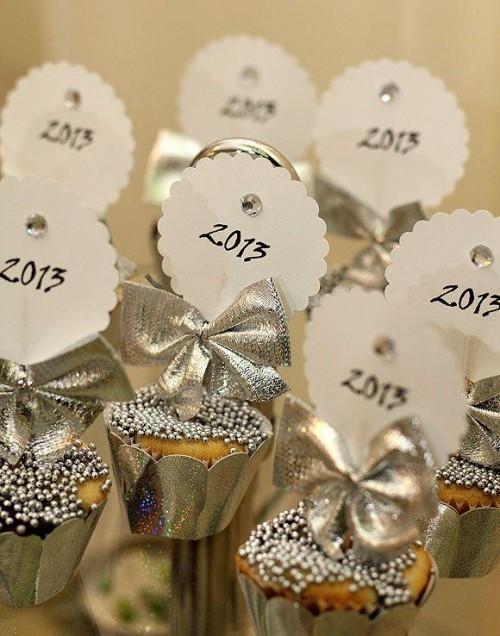 deko ideen glänzende muffins