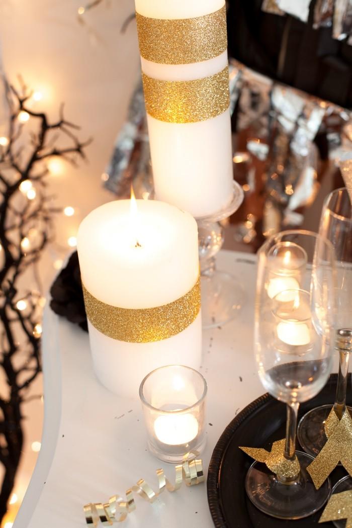 deko ideen weiß und gold als schattierungen