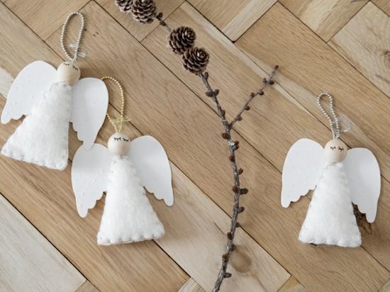 einfache engel basteln weihnachtsschmuck
