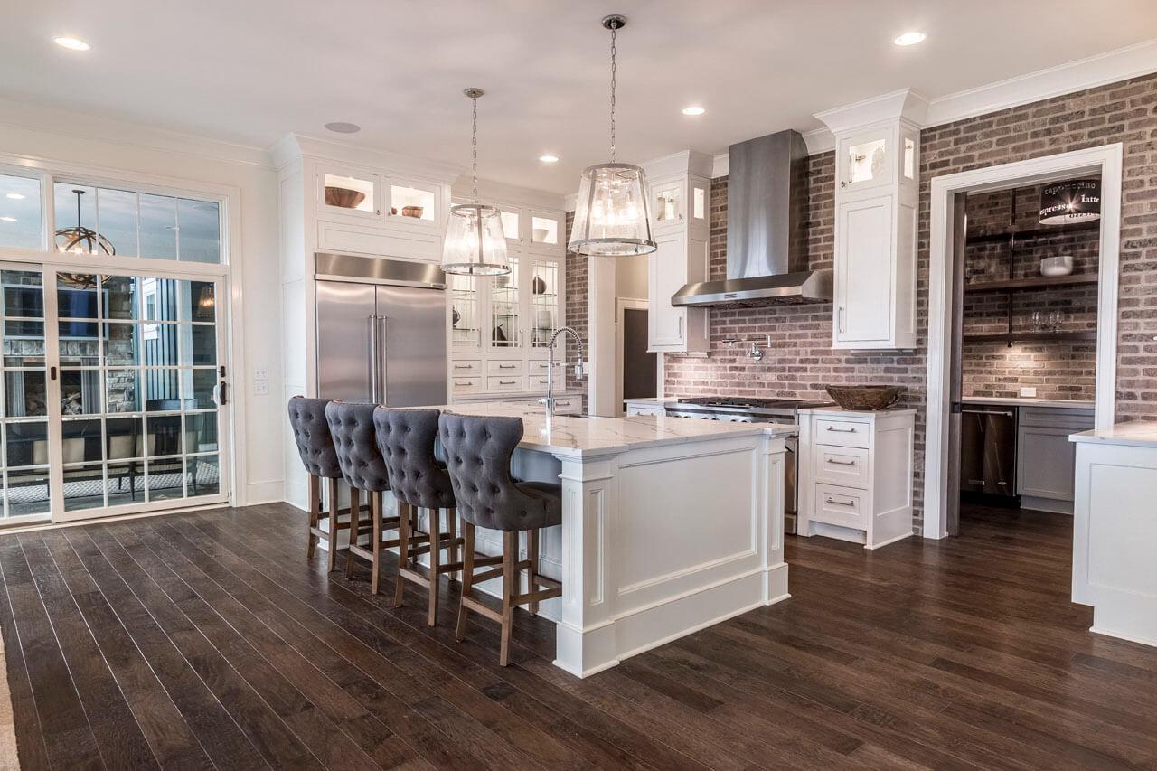 eleganter stauraum pantry küche