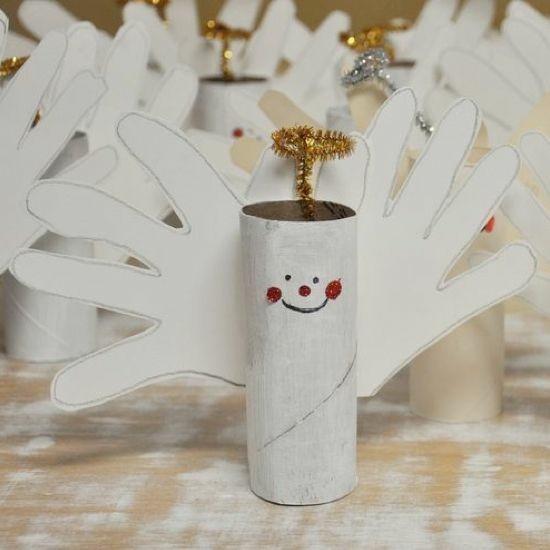 engel basteln aus klorollen zu weihnachten
