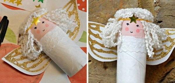 engel basteln ausgefallene weihnachtsdeko selber machen