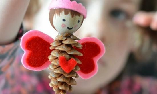 engel basteln mit kindern zu weihnachten