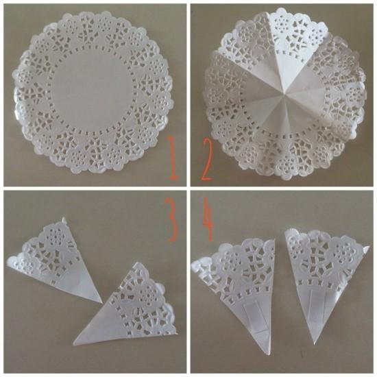 engel aus papier basteln vorlagen tortenspitze