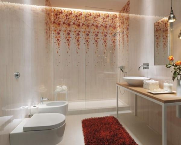exotische roten akzente badezimmer gestaltungsideen