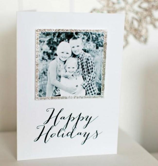 familien erinnerungen weihnachtskarten basteln