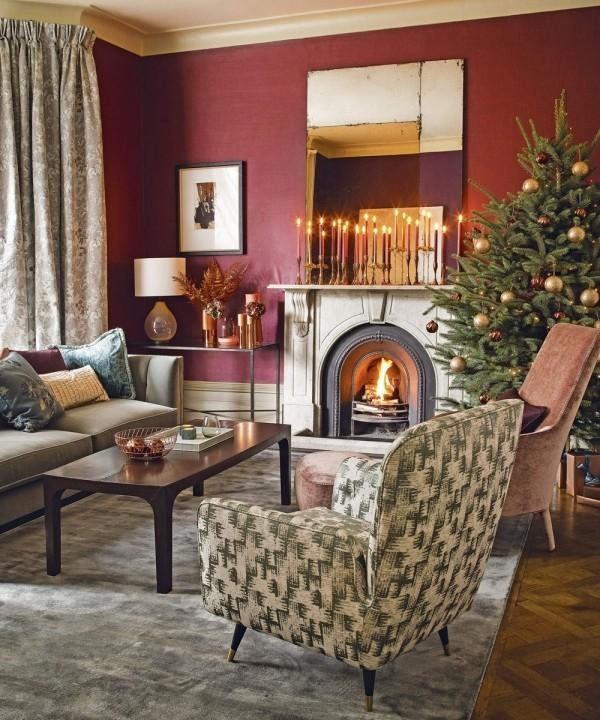 moderne wohnzimmer farben trendge einrichtungsideen in gr n und rot. Black Bedroom Furniture Sets. Home Design Ideas