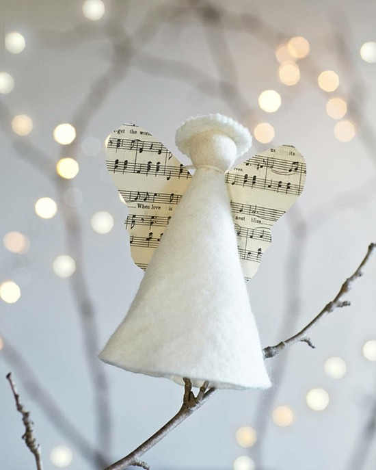 filzpapier notenpapier engel basteln