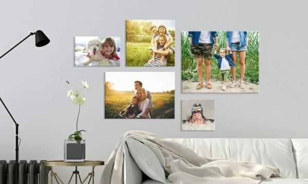 fotoleinwand ideen dekorationskombination
