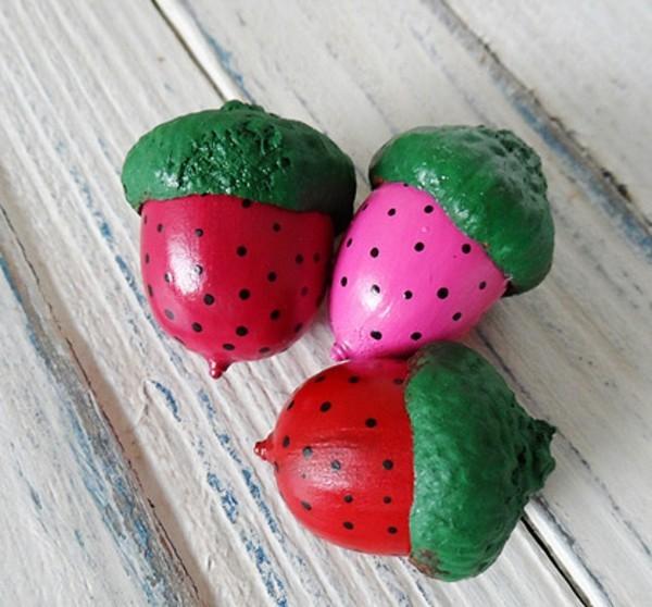 früchte basteln mit eicheln
