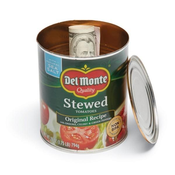 geldverstecke dose mit tomaten