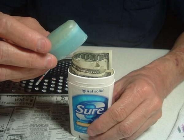 geldverstecke in den kaugummis