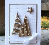 Weihnachtskarten basteln – 50 tolle und einfache Ideen für 2018!