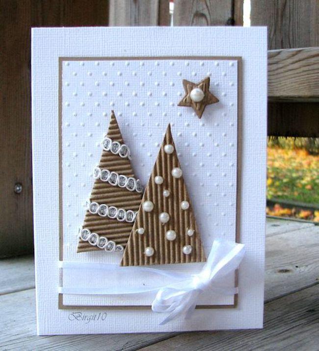 gemacht per hand weihnachtskarten basteln