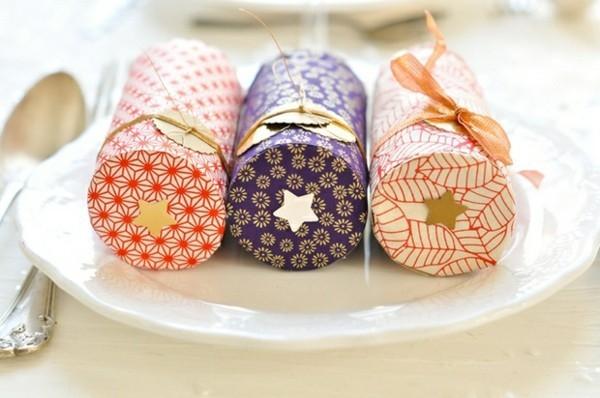 geschenkboxe mit klopapierrollen ausgefallene weihnachtsdeko selber machen