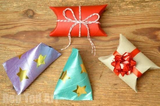 geschenkideen geschenkverpackungen basteln mit klorollen