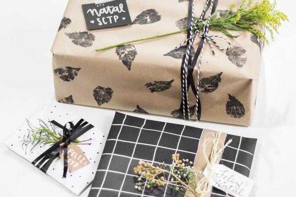 geschenkpapier braun und schwarz - tolle ideen