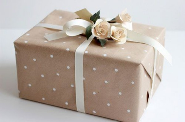 geschenkpapier dezente schicke idee