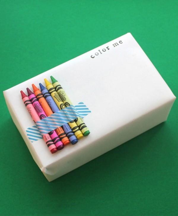 geschenkpapier diy idee für kinder