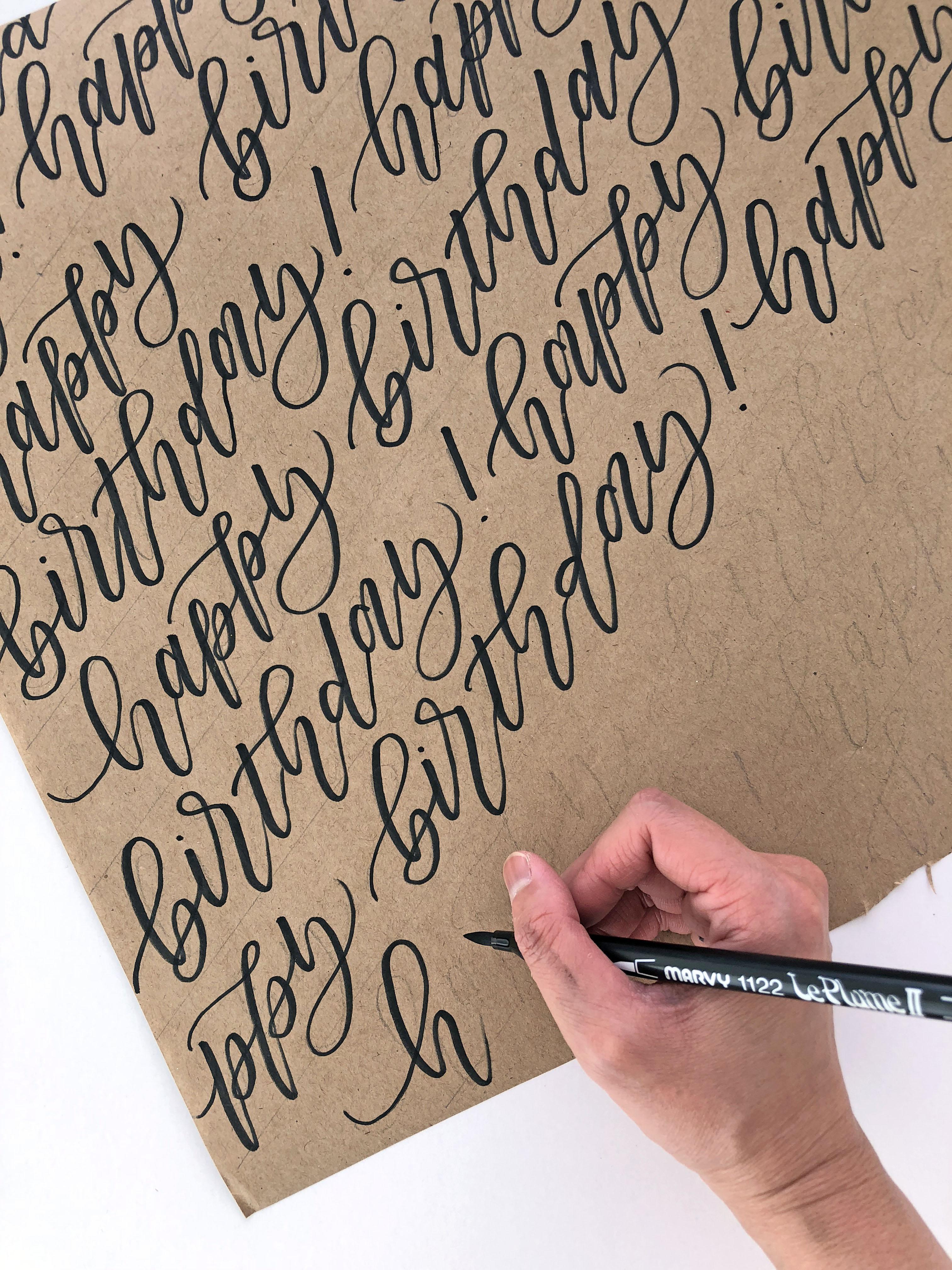 geschenkpapier schreiben kugelschreiber