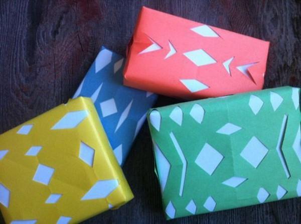 geschenkpapier viele farben