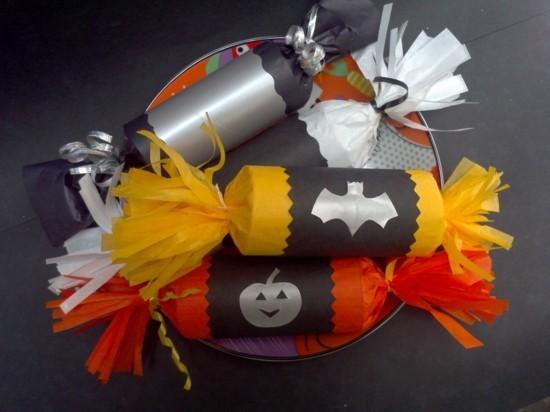 geschenktüten basteln mit klorollen zu halloween