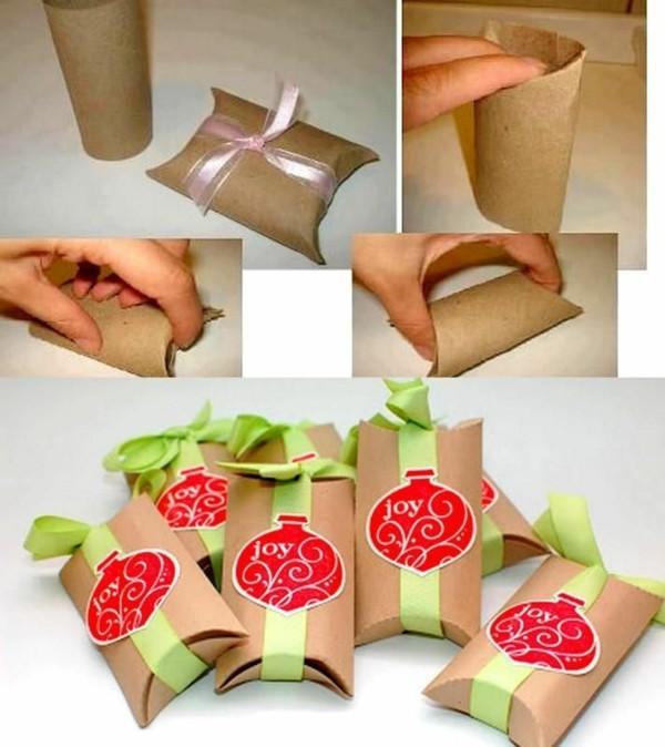 geschenkverpackungen basteln ausgefallene weihnachtsdeko selber machen