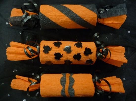 geschenkverpackungen halloween basteln mit klorollen