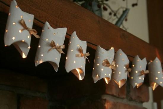 giralnde basteln mit klorollen zu weihnachten