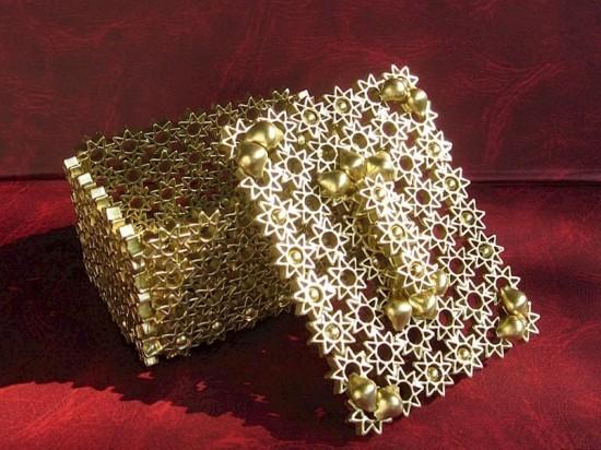 goldene kiste basteln mit nudeln