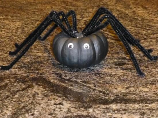 große spinne basteln zu halloween
