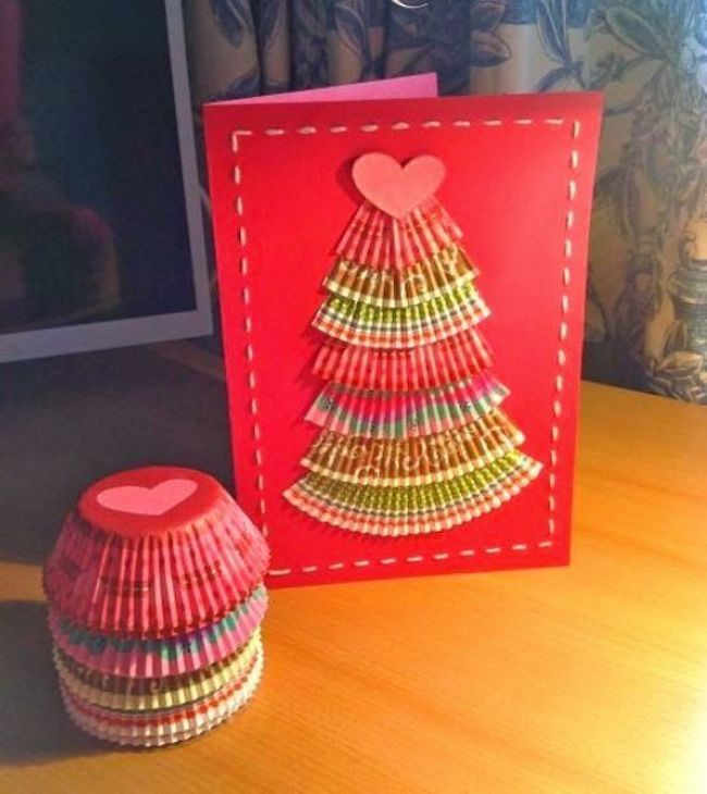 grosse glocke weihnachtskarten basteln