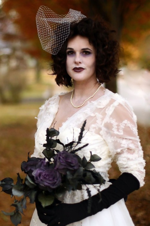 gruselige Halloween Kostüme Corpse Bride schön aber schaurig