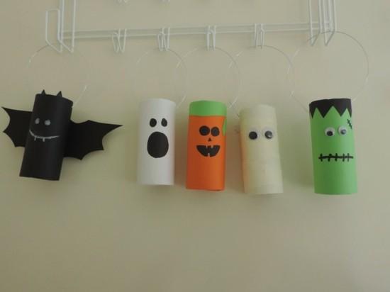 toilet paper roll crafts halloween Halloween Toilet Roll Decoration My Kid Craft