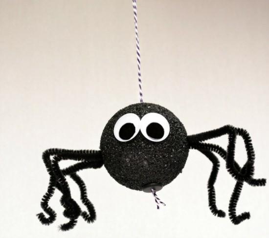 halloween deko ideen spinne basteln