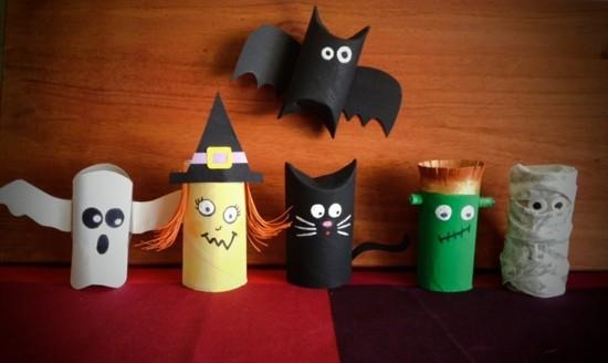 halloween diy projekte basteln mit klorollen