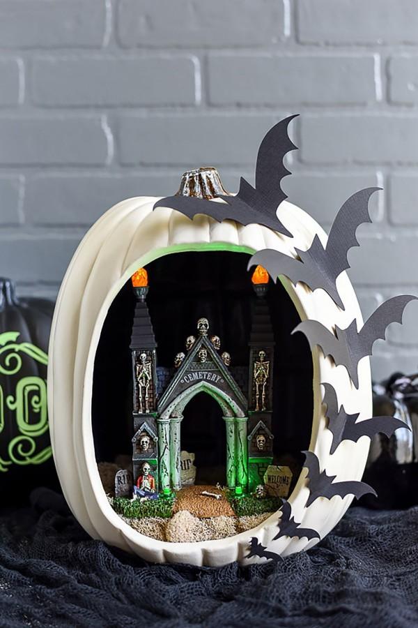 halloween gruselige idee in schwarz und weiß