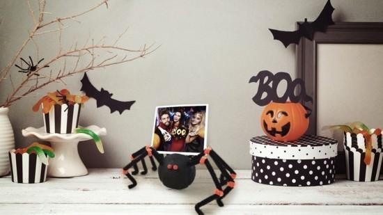 halloween spinne basteln aus pfeifenputzer