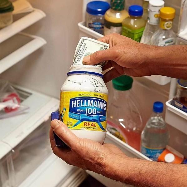 idee im kühlschrank geldverstecke