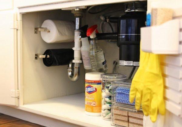 ideen zum saubermachen stauraum