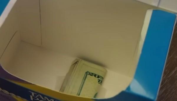 in den tampons geldverstecke