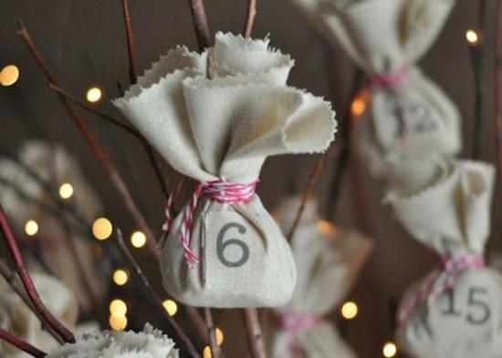 jutesäckchen ausgefallene adventskalender selber basteln
