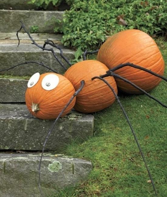 kürbis spinne basteln zu halloween