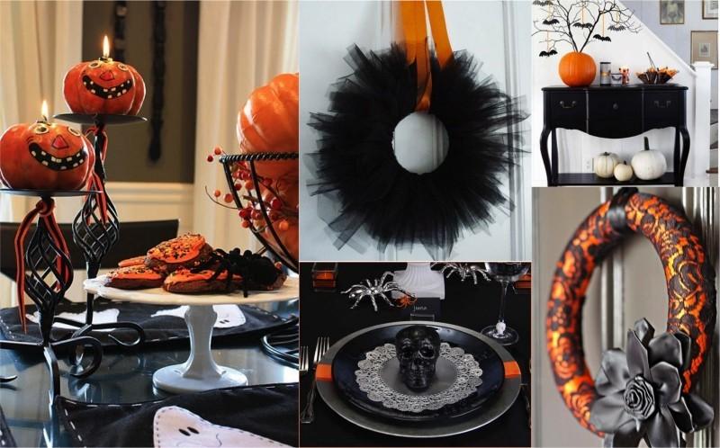 kürbisse und andere accessoires halloween deko